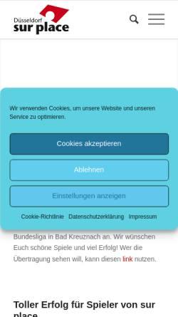 Vorschau der mobilen Webseite www.surplace.de, Sur Place e.V.