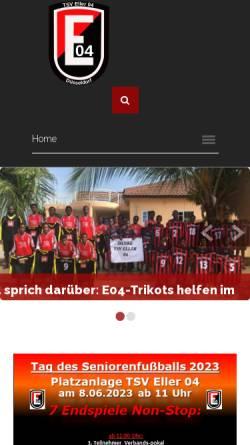 Vorschau der mobilen Webseite www.eller04.de, TSV Eller 04