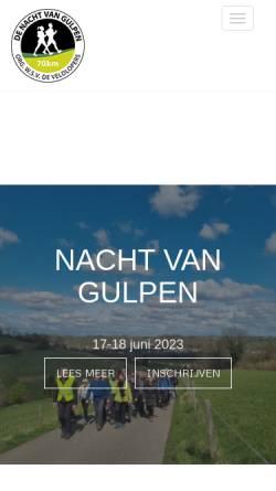 Vorschau der mobilen Webseite www.nachtvangulpen.nl, De Nacht van Gulpen