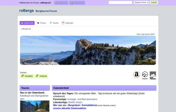 Vorschau von www.roberge.de, Rosenheimer Internet-Bergführer