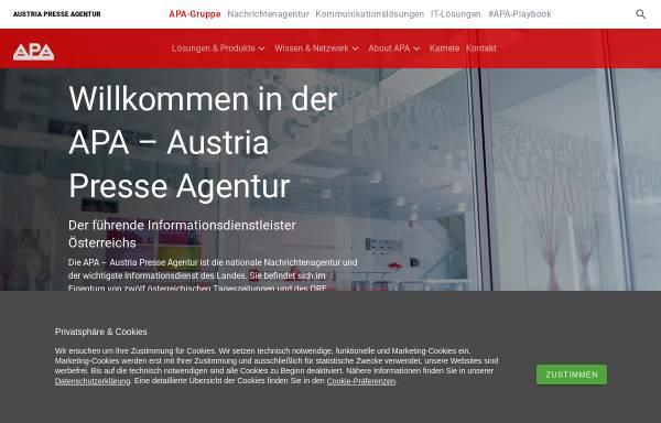 Vorschau von www.apa.at, APA Austria Presse Agentur