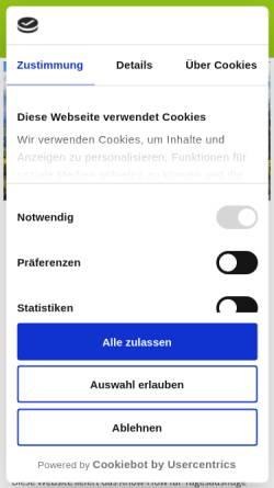 Vorschau der mobilen Webseite italienwandern.de, Wandern in Italien