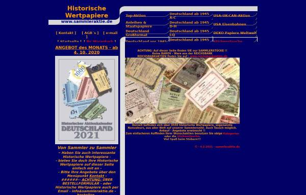 Vorschau von www.sammleraktie.de, Sammleraktie, Dr. Karin Stanzel