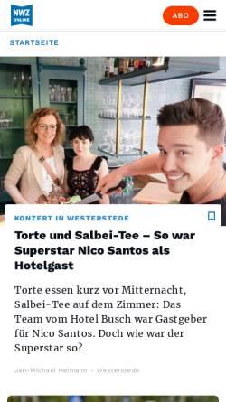 Vorschau der mobilen Webseite www.nwzonline.de, Nordwest-Zeitung