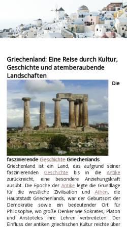 Vorschau der mobilen Webseite www.griechenland-lexikon.de, Griechenland-Lexikon