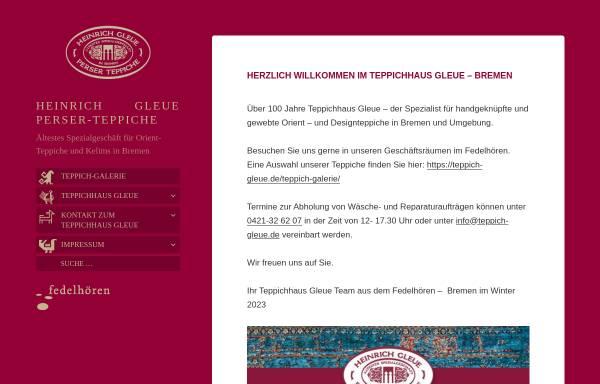 Vorschau von www.teppich-gleue.de, Heinrich Gleue Perser-Teppiche & Co.