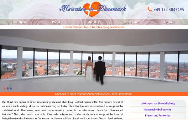 Vorschau von www.einfach-heiraten.eu, Einfach heiraten in Dänemark