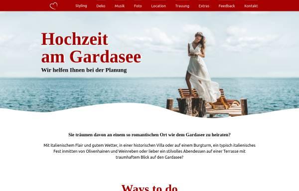 Vorschau von www.hochzeitamgardasee.de, Hochzeit am Gardasee
