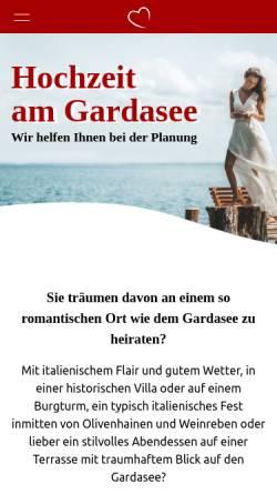 Vorschau der mobilen Webseite www.hochzeitamgardasee.de, Hochzeit am Gardasee
