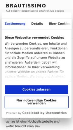 Vorschau der mobilen Webseite www.ihre-hochzeitsfee.de, Ihre Hochzeitsfee - Kathrin Kutzner