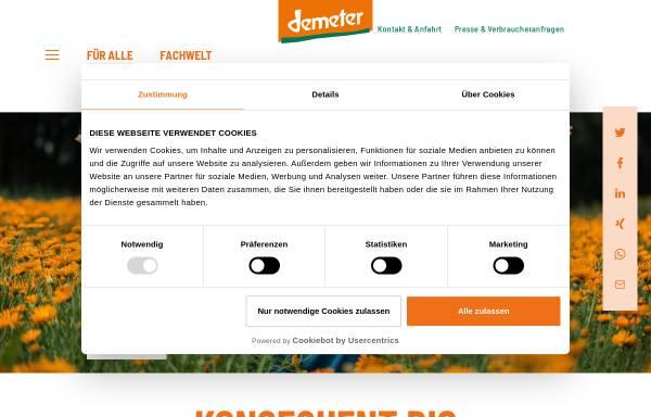 Vorschau von www.demeter.de, Demeter