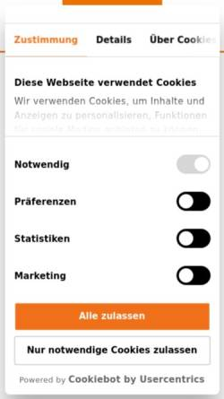 Vorschau der mobilen Webseite www.demeter.de, Demeter