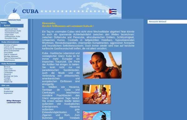 Vorschau von www.lastminute-kuba.de, Viva Kuba