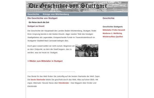 Vorschau von www.stuttgart-geschichte.de, Geschichte von Stuttgart