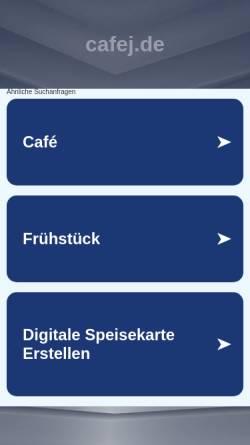 Vorschau der mobilen Webseite www.cafej.de, Das Cafej