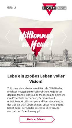 Vorschau der mobilen Webseite www.cvjm-berlin.de, CVJM Berlin e.V. - Christlicher Verein Junger Menschen
