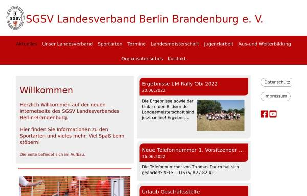 Vorschau von www.sgsv-lvbb.de, SGSV Landesverband Berlin-Brandenburg
