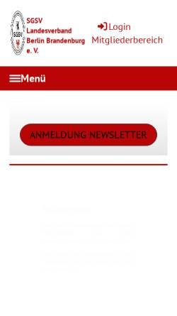 Vorschau der mobilen Webseite www.sgsv-lvbb.de, SGSV Landesverband Berlin-Brandenburg