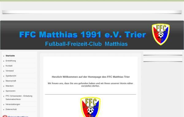 Vorschau von www.ffcmatthias-trier.de, FFC Matthias-Trier
