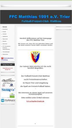 Vorschau der mobilen Webseite www.ffcmatthias-trier.de, FFC Matthias-Trier