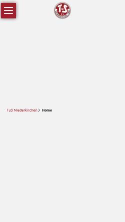 Vorschau der mobilen Webseite www.tus-niederkirchen.de, TuS Niederkirchen 1900 e.V.