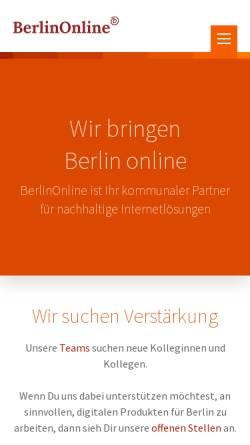 Vorschau der mobilen Webseite www.berlinonline.de, Spiel entleerter Seelen