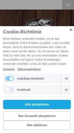 Vorschau der mobilen Webseite www.angelmeissner.de, Angelgeräte Meißner