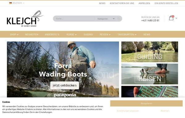 Vorschau von www.klejch.at, Klejch Fly Fishing & Outdoor