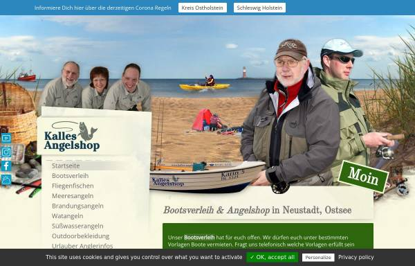 Vorschau von kallesangelshop.de, Kalles Angelshop, Karl-Heinz Rohde