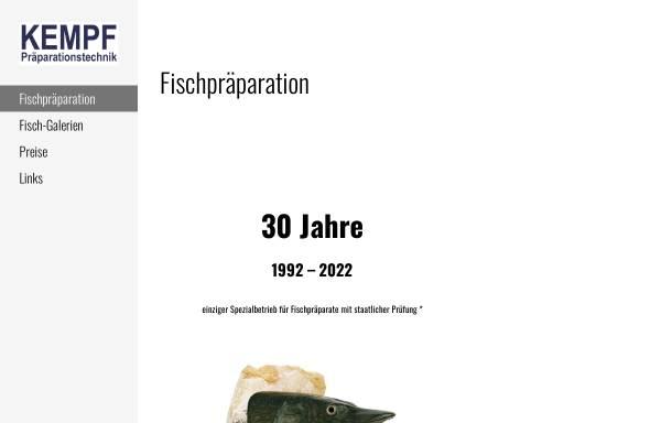 Vorschau von www.kempf-fische.de, Kempf Präparationstechnik
