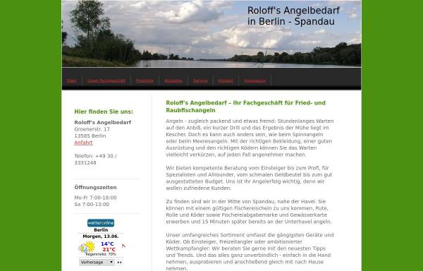 Vorschau von www.angelbedarf-roloff.de, Roloff's Angelbedarf. Michael Roloff