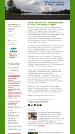 Vorschau der mobilen Webseite www.angelbedarf-roloff.de, Roloff's Angelbedarf. Michael Roloff