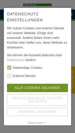 Vorschau der mobilen Webseite www.euwid-holz.de, EUWID Holz und Holzwerkstoffe
