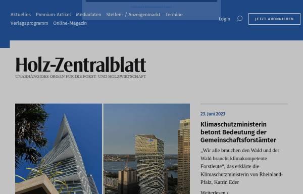 Vorschau von www.holz-zentralblatt.com, Holz-Zentralblatt