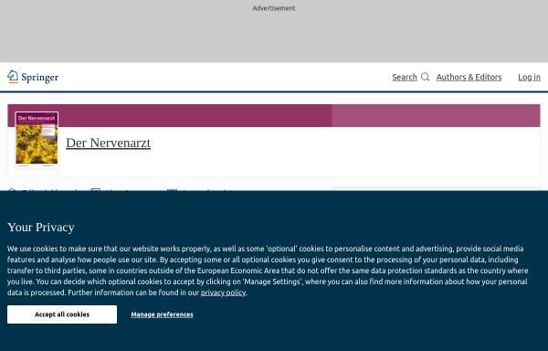 Vorschau von www.springer.com, Der Nervenarzt