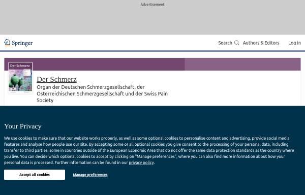 Vorschau von www.springer.com, Der Schmerz