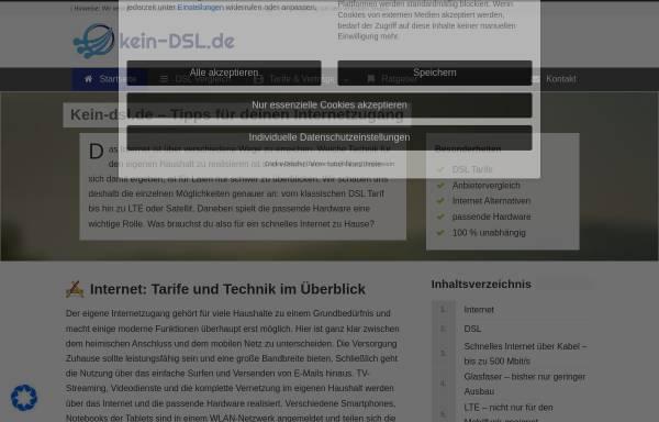 Vorschau von www.kein-dsl.de, Kein-DSL - Webdesign-Blueteam Andreas Dreßler