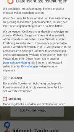 Vorschau der mobilen Webseite www.kein-dsl.de, Kein-DSL - Webdesign-Blueteam Andreas Dreßler