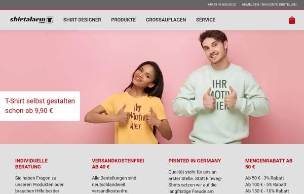 Vorschau von shirtalarm.com, No Limit! Verwaltungs GmbH