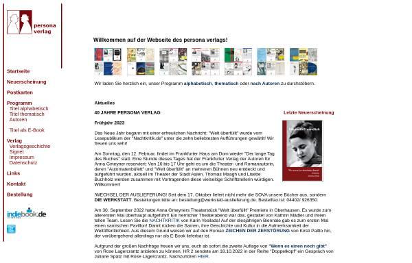 Vorschau von www.personaverlag.de, Persona Verlag