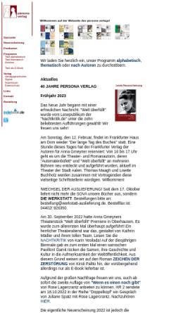 Vorschau der mobilen Webseite www.personaverlag.de, Persona Verlag