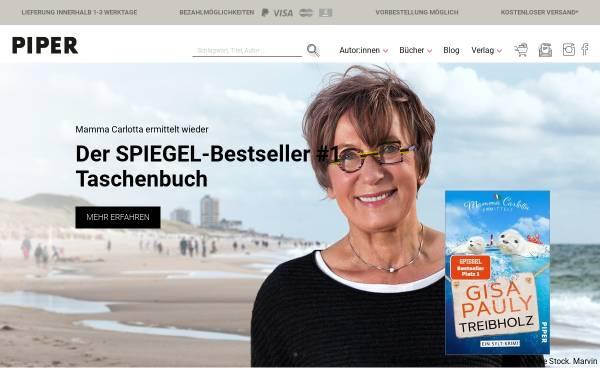 Vorschau von www.piper.de, Piper Verlag GmbH