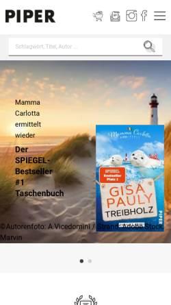 Vorschau der mobilen Webseite www.piper.de, Piper Verlag GmbH