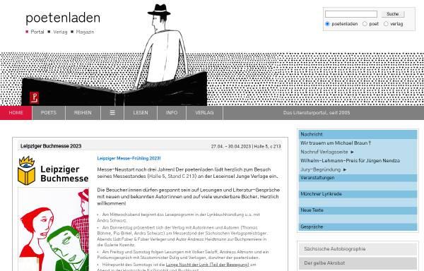 Vorschau von www.poetenladen-der-verlag.de, Poetenladen Verlag