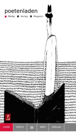 Vorschau der mobilen Webseite www.poetenladen-der-verlag.de, Poetenladen Verlag