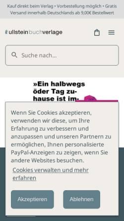 Vorschau der mobilen Webseite www.ullsteinbuchverlage.de, Propyläen Verlag