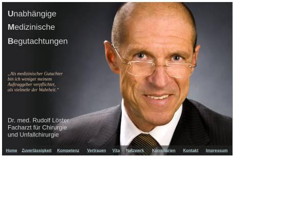 Vorschau von www.dr-loester.de, Dr. med. Rudolf Löster