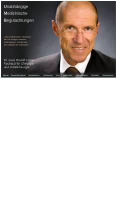 Vorschau der mobilen Webseite www.dr-loester.de, Dr. med. Rudolf Löster
