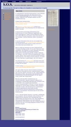 Vorschau der mobilen Webseite www.second-opinion-service.de, S.O.S. Second-Opinion-Service - Prof. Dr. Rudolf Kleining