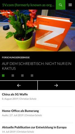 Vorschau der mobilen Webseite orga.uni-sb.de, BestPersAward